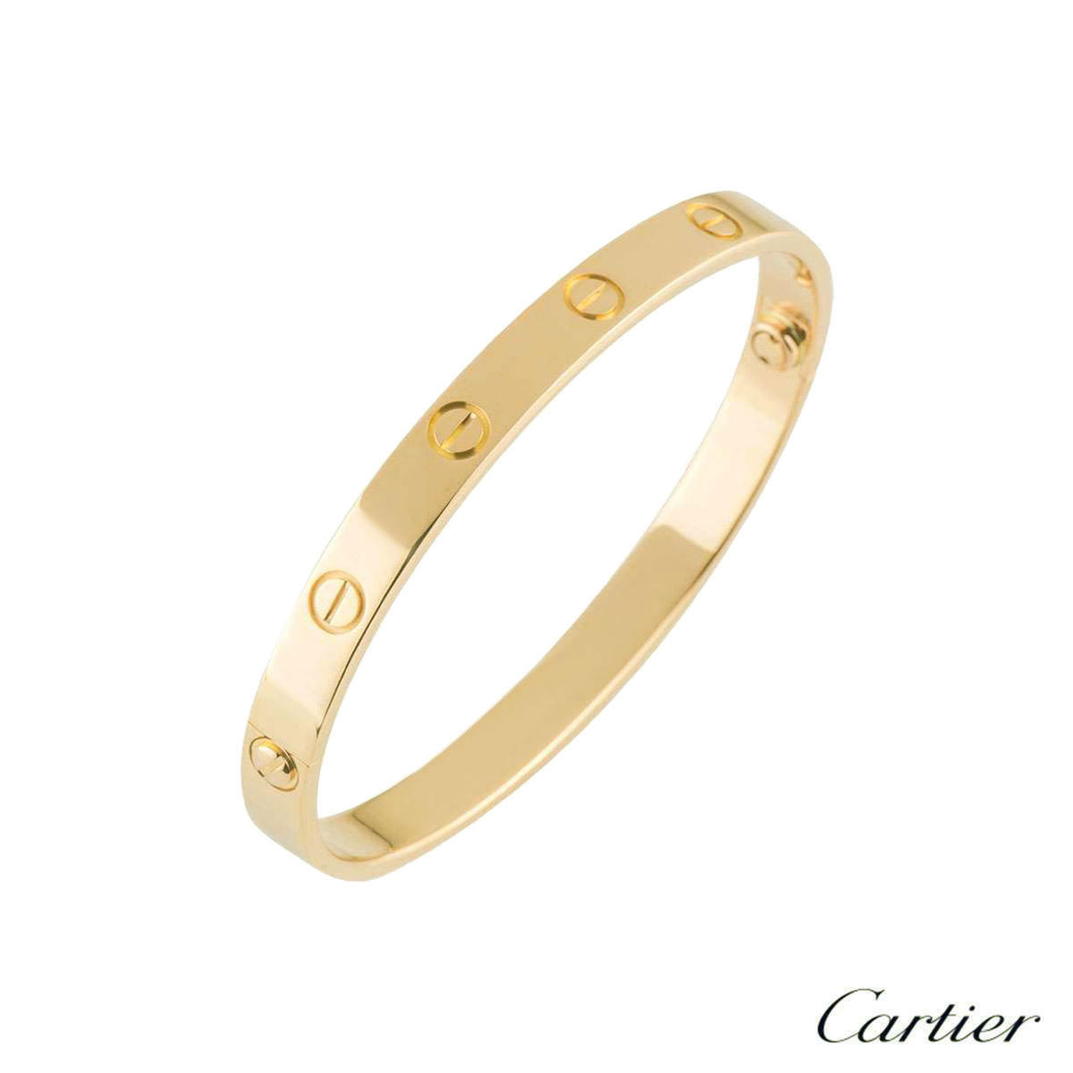 Cartier Yellow Gold Plain Love Bracelet Size 18 B6035518